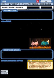 """""""音遊び""""ワークショップと伝統芸能・民俗音楽の調査"""