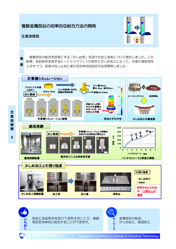 複数金属部品の効率的な結合方法の開発