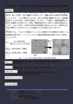 マルチスケールな広がりを持つ誘電・絶縁現象の解析手法の開発