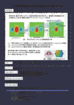 生体磁気刺激ならびに生体情報処理に関する研究