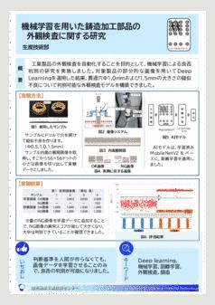 機械学習を用いた鋳造加工部品の 外観検査に関する研究