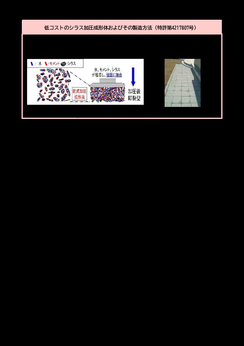 低コストのシラス加圧成形体およびその製造方法