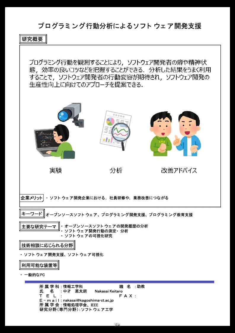 プログラミング行動分析によるソフトウェア開発支援